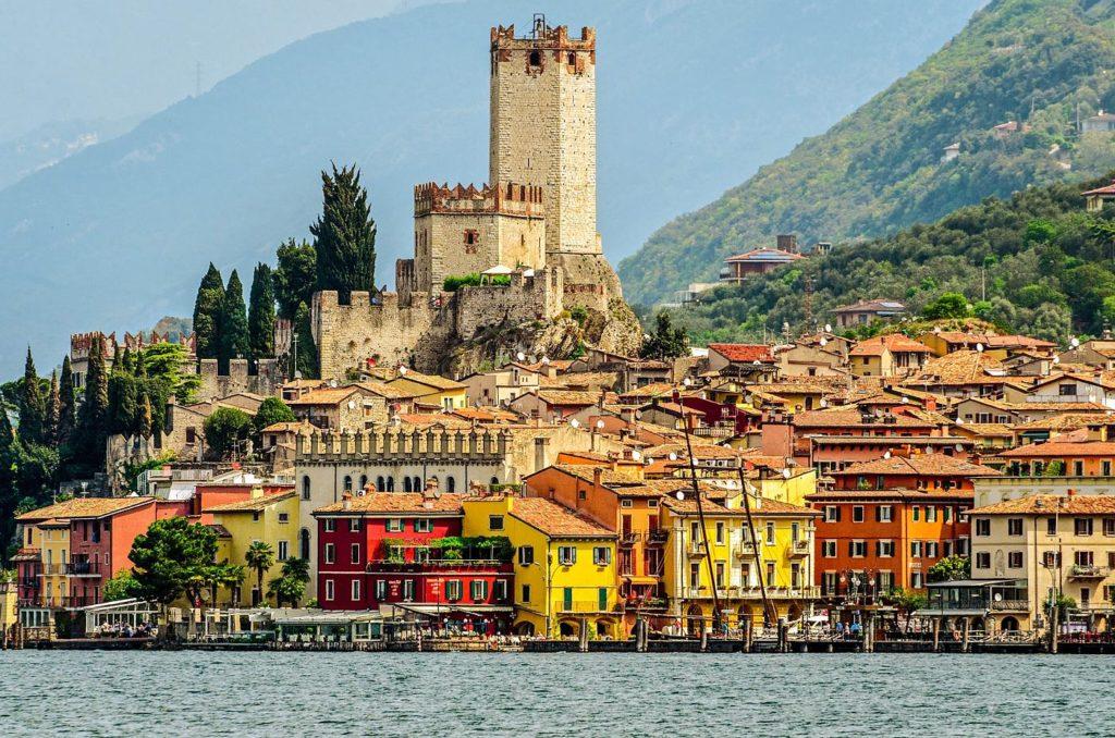 Lake Garda Town of Malcesine Veneto Italy shutterstock 379405306 2